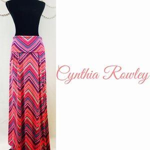 Cynthia Rowley Fold Over Waist Maxi Skirt